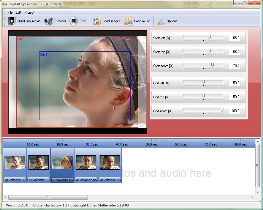 Click to view Digital Clip Factory 1.4.0.0 screenshot