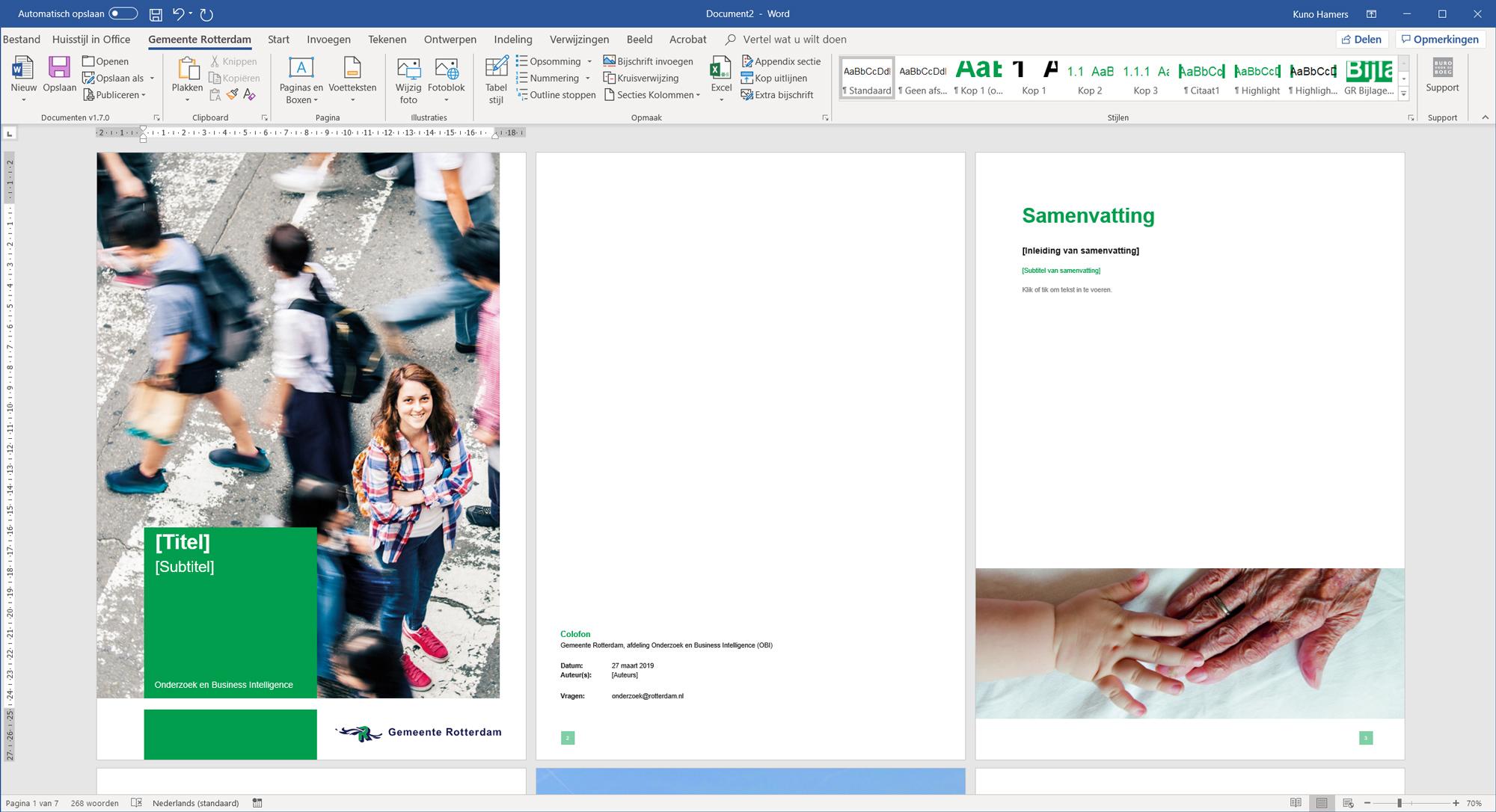 Gemeente Rotterdam Word template rapport